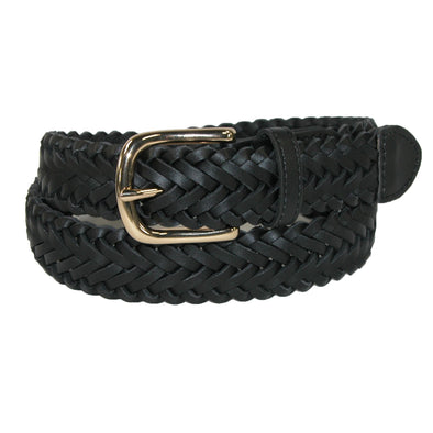 Boys' Leather Braided Uniform Dress Belt (Pack of 2)