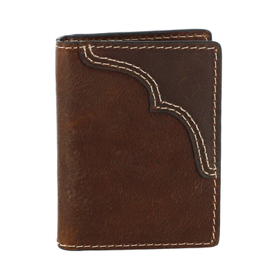 Men's Leather Card Case Wallet with Money Clip
