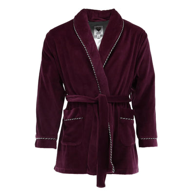 Men's Velour Smoking Jacket with Satin Lining