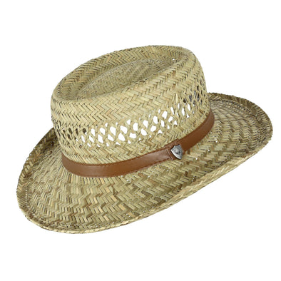 Rush Straw Gambler Hat with Wide Brim