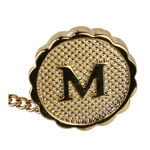 Men's Gold Tie Tack with Initial