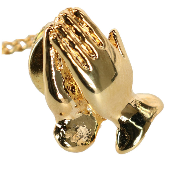 Men's Praying Hands Tie Tack