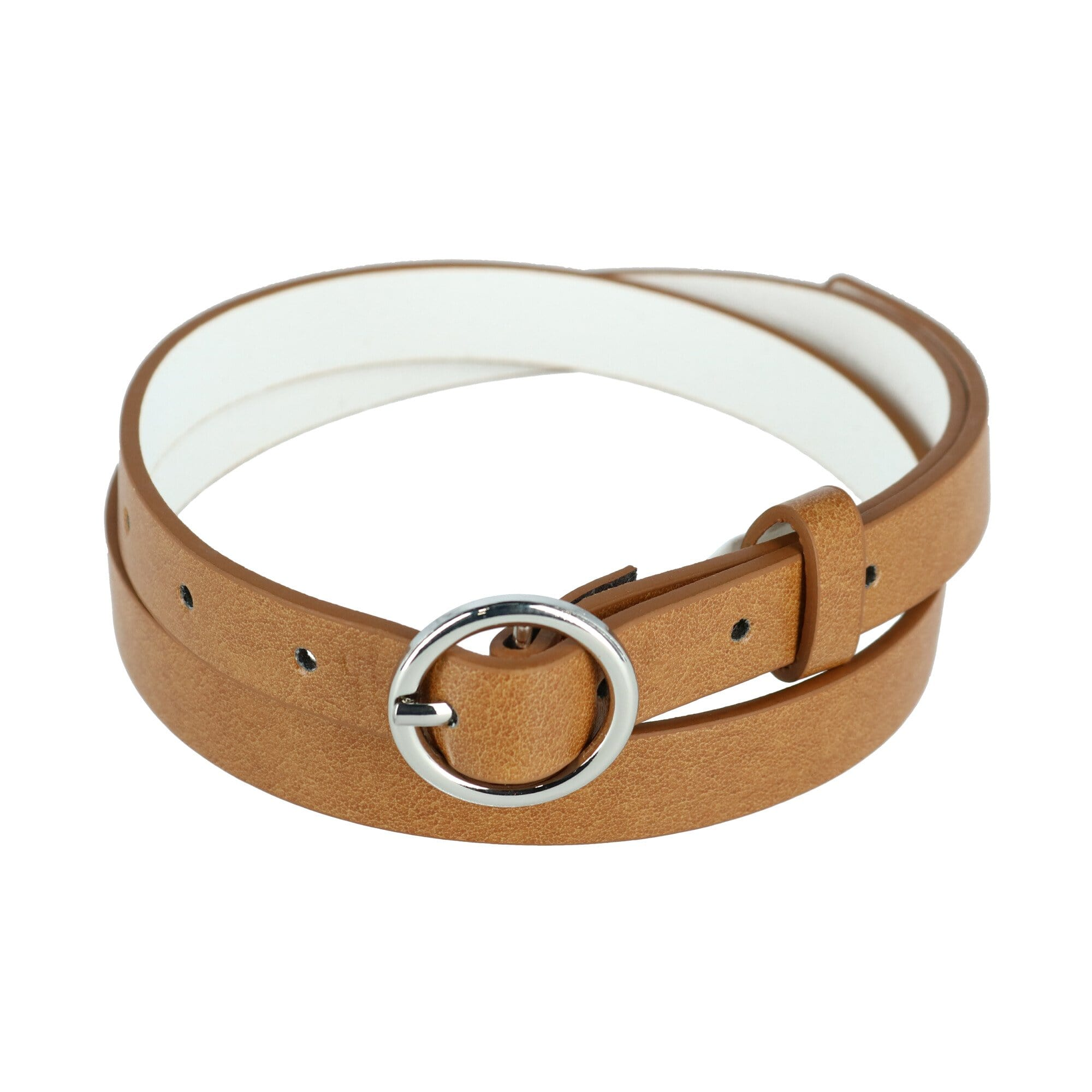 CTM® Women's Bridle Belt with Circle Buckle