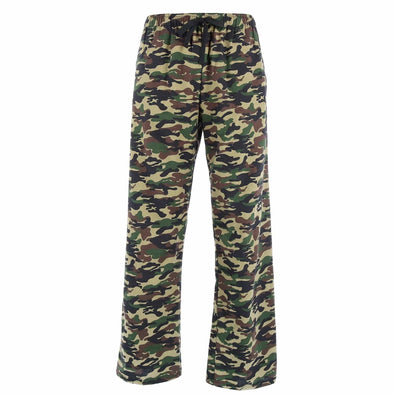 Men's Camouflage Print Flannel Pajama Pants