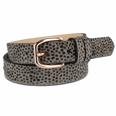 Women's Tamsin Leopard Print Pony Hair Belt