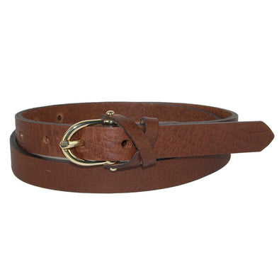 Women's Callie Leather Belt with Crossover Keeper