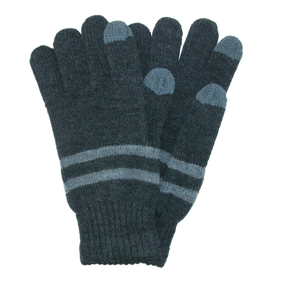 Men's Marled Knit Stretch Touchscreen Glove