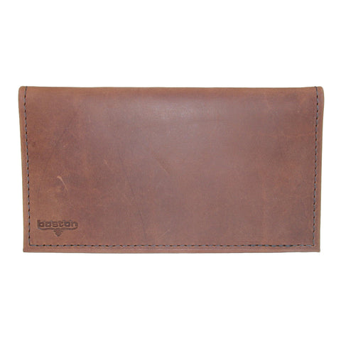 Distressed Copper Explorer Leather Checkbook Cover