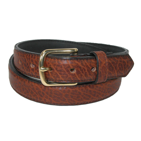Men's Bison Leather Dress Belt