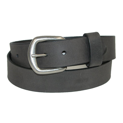 Men's Oil Tanned Leather Belt with Removable Buckle