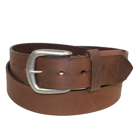 Men's Big & Tall Aged Bark Chieftain Leather Hidden Stretch Belt