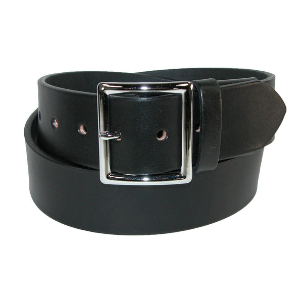 Men's Big & Tall Leather Garrison Belt with Hidden Elastic Stretch