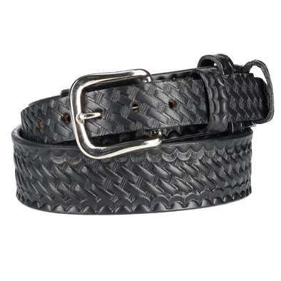 Men's Basketweave Leather Ranger Belt