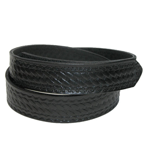 Men's Leather Basketweave Hook and Loop Mechanics Belt