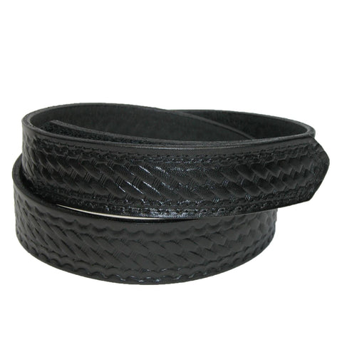 Men's Big & Tall Leather Basketweave Hook and Loop Mechanics Belt