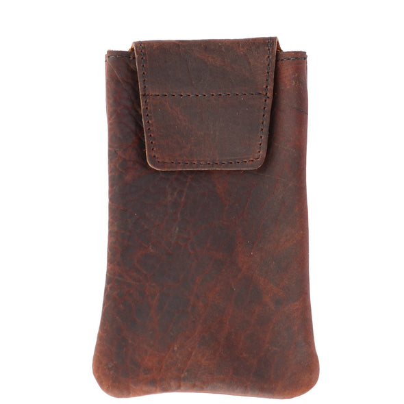 Textured Bison Leather Eyeglass Case