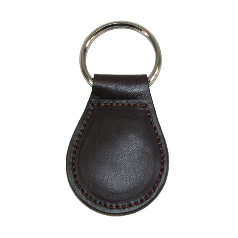 Smooth Leather Tear Drop Key Fob