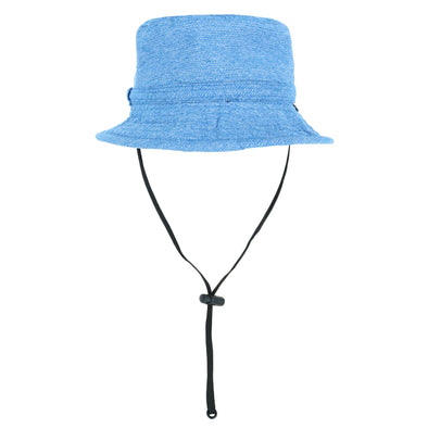Kid's UPF 50+ Solid Bucket Hat with Chin Cord