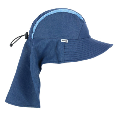 Kid's Sun Hat with Cape and Chin Cord