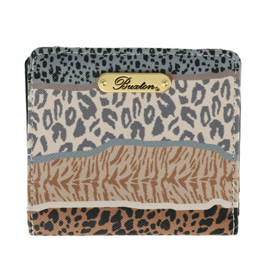 Women's Multi-Animal Print Snap Bifold Wallet