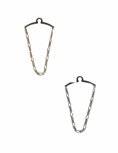 Men's Figaro Style Link Tie Chains (Pack of 2)