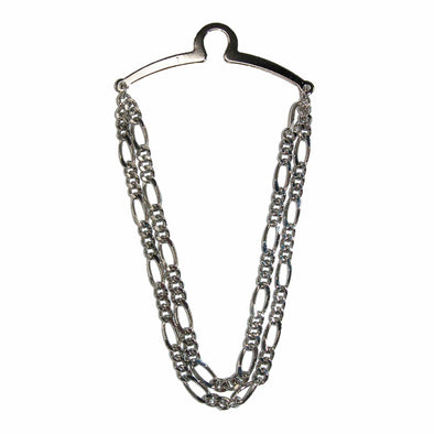 Men's Double Figaro Style Link Tie Chain