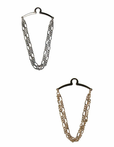 Men's Double Figaro Link Style Tie Chain