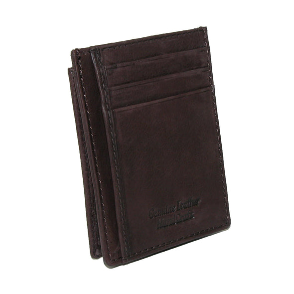 Men's Leather Front Pocket Credit Card ID Holder Wallet