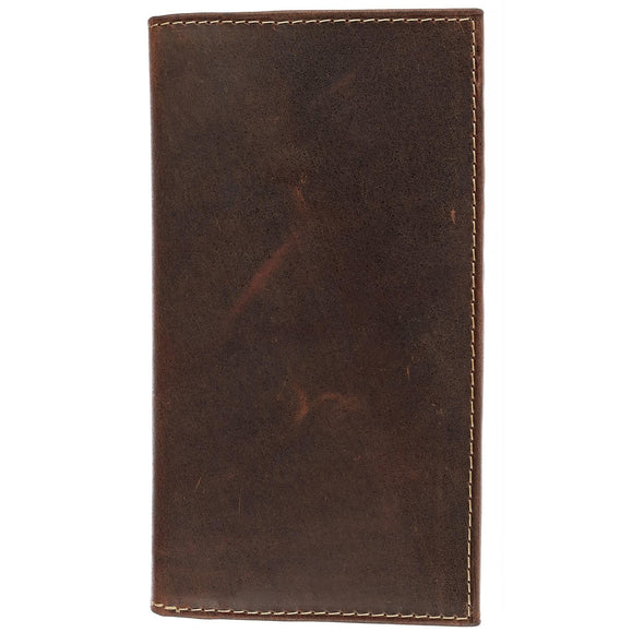 Hunter Leather Distressed Checkbook Cover