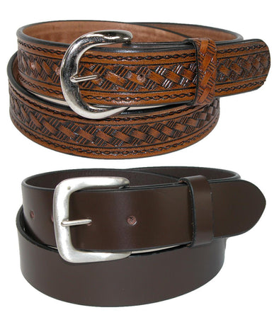 Men's Leather Removable Buckle Belts (Pack of 2)