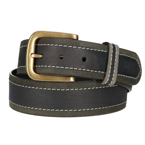 Mens Big & Tall  Two Tone Bridle Belt with Removable Buckle