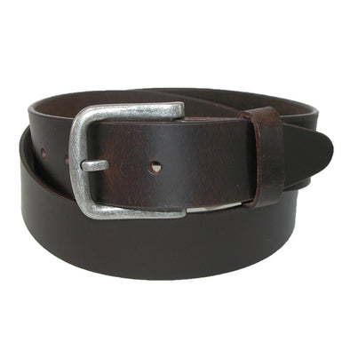 Men's Leather Removable Buckle Bridle Belt