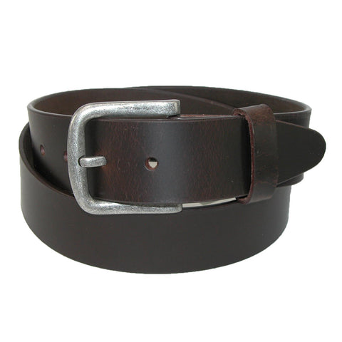 Men's Big & Tall Leather Removable Buckle Bridle Belt
