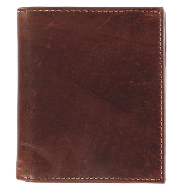 Men's Oil Pull Up Leather Hipster Bifold Wallet