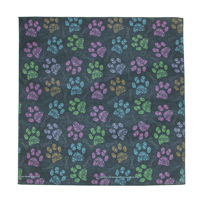Colorful Dog Paw Print Bandana