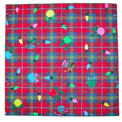 Plaid Christmas Lights Holiday Bandana