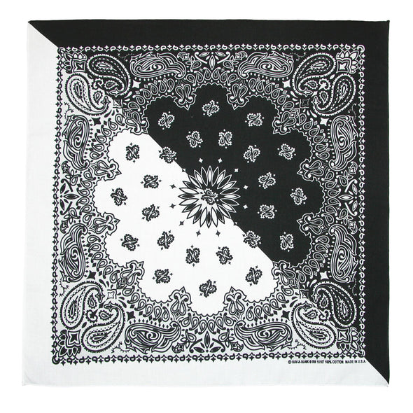 Split Paisley Print Bandana (Pack of 5)
