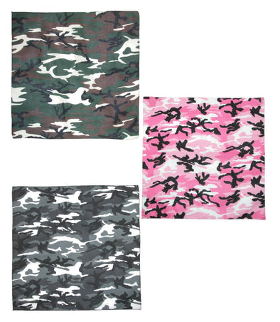 Urban Hunting Camouflage Bandanas (Pack of 3)