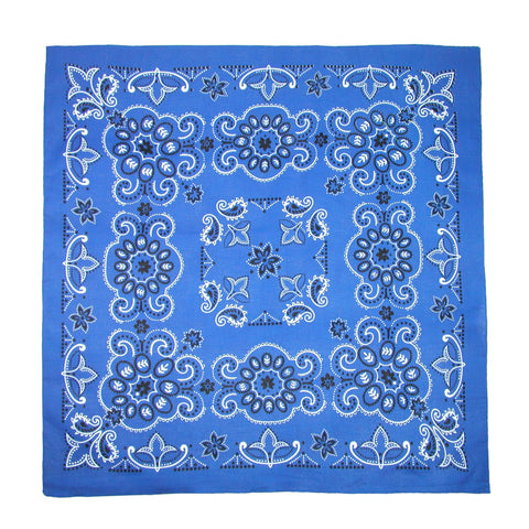 27 Inch Extra Large Cotton Texas Paisley Bandana