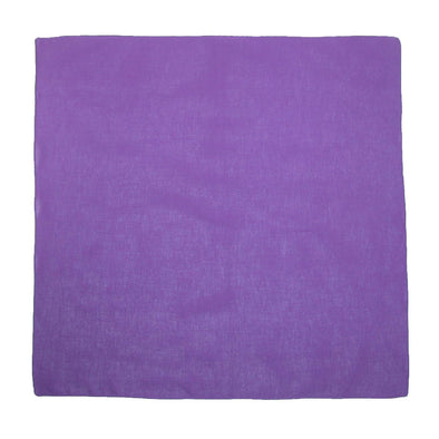 Cotton Solid Color Bandanas (Pack of 5 of Same Color)