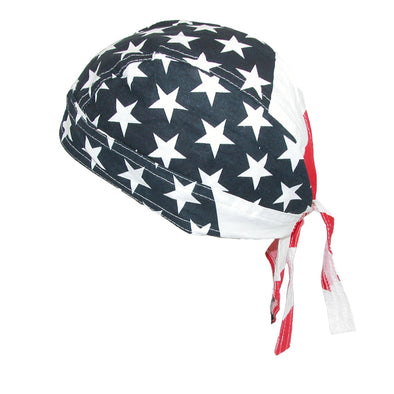 Men's Cotton American Flag Do Rag Cap