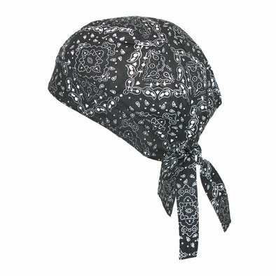 Men's Cotton Unlined Paisley Biker Do Rag Cap