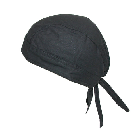 Cotton Solid Unlined Biker Do Rag Cap
