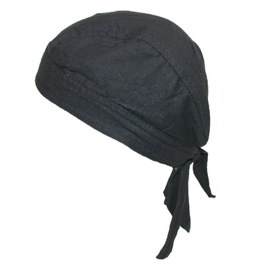 Men's Cotton Lined Solid Do Rag Cap (Pack of 5)