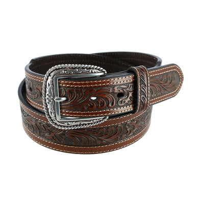 Men's Western Taper Belt with Scroll Work