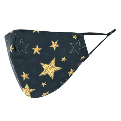 Kid's Large Star Print Adjustable Face Mask