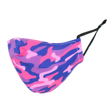 Kid's Camouflage Print Protective Face Mask with Adjustable Straps