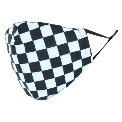 Kid's Checker Print Adjustable Face Mask