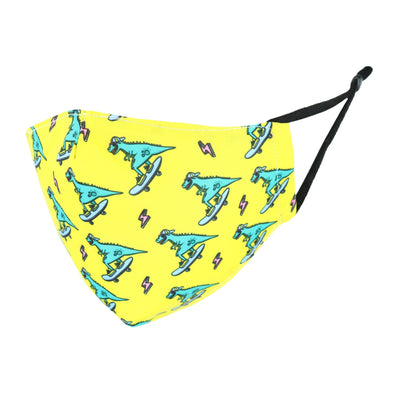 Kid's Dinosaur Print Protective Face Mask with Adjustable Straps