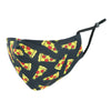 Kid's Pizza Print Protective Face Mask with Adjustable Straps
